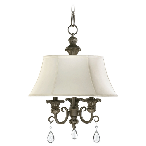 Quorum Lighting Quorum Lighting Fulton Classic Bronze Mini-Chandelier 6132-3-54