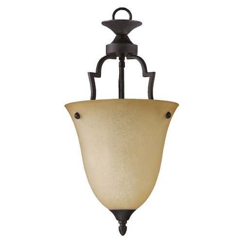 Quorum Lighting Quorum Lighting Coventry Toasted Sienna Pendant Light with Bell Shade 816-44
