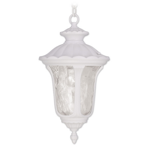 Livex Lighting Livex Lighting Oxford White Outdoor Hanging Light 7854-03