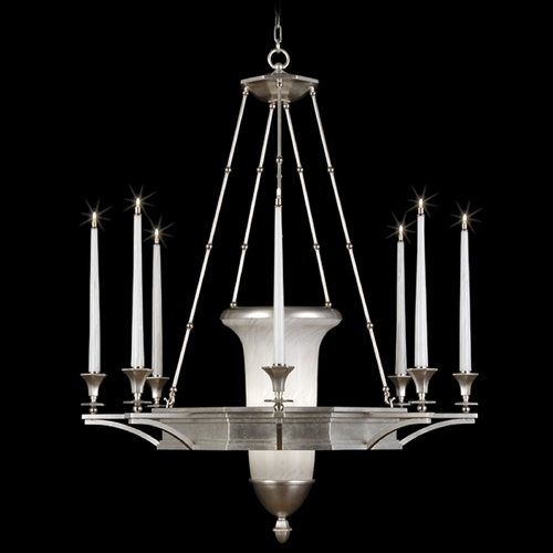 Fine Art Lamps Fine Art Lamps Candlelight 21st Century Silver Clear Silver Leaf Accented with Polished Nickel Fitti 805840-2ST