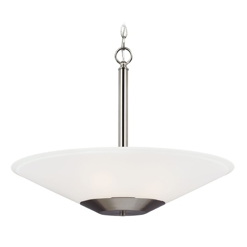 Sea Gull Lighting Sea Gull Lighting Ashburne Brushed Nickel Pendant Light with Coolie Shade 6611203-962