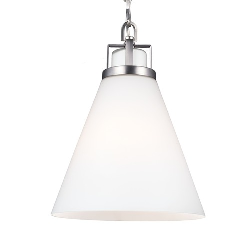 Feiss Lighting Feiss Frontage Satin Nickel Mini-Pendant Light P1369SN