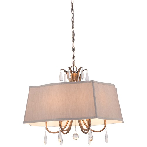 Minka Lavery Minka Vintage Gold Pendant Light with Rectangle Shade 380-594