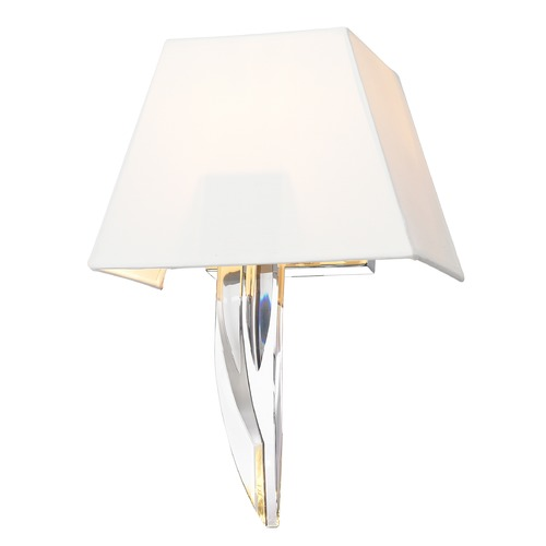 Golden Lighting Golden Lighting Nan Chrome Sconce C148-WSC-CH-WH