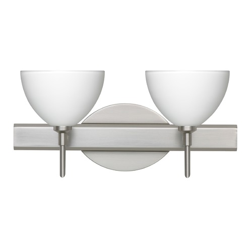 Besa Lighting Besa Lighting Brella Satin Nickel LED Bathroom Light 2SW-467907-LED-SN