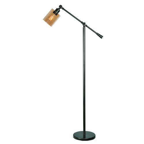 Kenroy Home Lighting Thornton Warm Bronze Swing Arm Lamp with Cylindrical Shade by Kenroy Home 32975WBZ