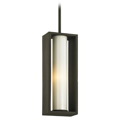 Troy Lighting Troy Lighting Mondrian Textured Bronze Outdoor Hanging Light F6497