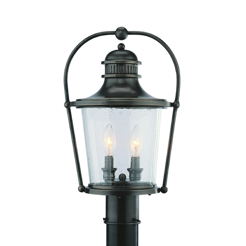 Troy Lighting Post Light with Clear Glass in English Bronze Finish P2035EB