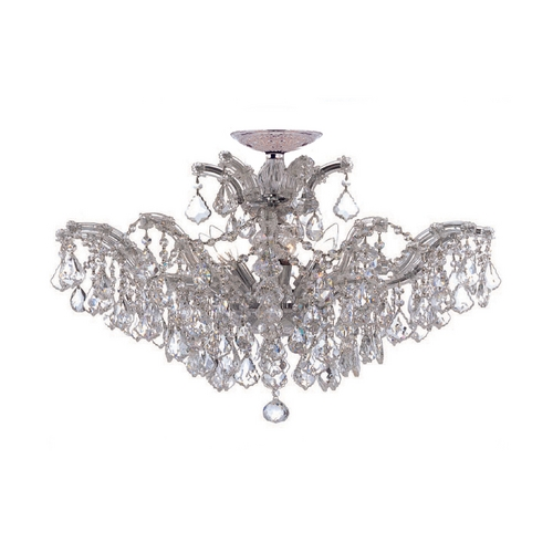 Crystorama Lighting Crystal Chandelier in Polished Chrome Finish 4439-CH-CL-S