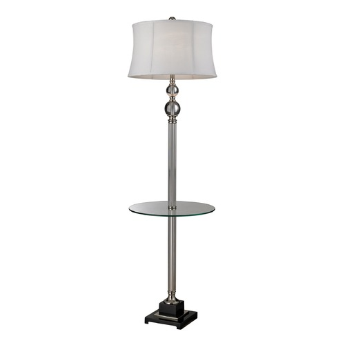 Dimond Lighting Dimond Lighting Clear, Polished Nickel Gallery Tray Lamp with Drum Shade D2310