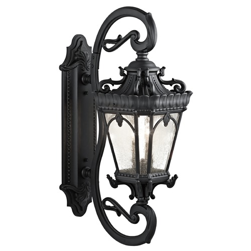Kichler Lighting Kichler Outdoor Wall Light with Clear Glass in Textured Black Finish 9359BKT