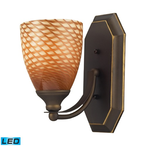 Elk Lighting Elk Lighting Bath and Spa Aged Bronze LED Sconce 570-1B-C-LED