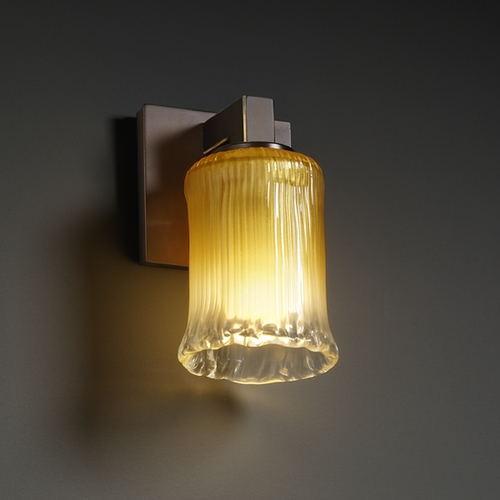 Justice Design Group Justice Design Group Veneto Luce Collection Sconce GLA-8921-16-GLDC-DBRZ