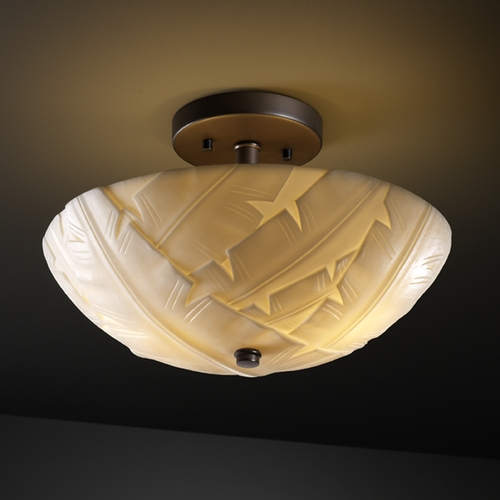 Justice Design Group Justice Design Group Porcelina Collection Semi-Flushmount Light PNA-9690-35-BANL-DBRZ