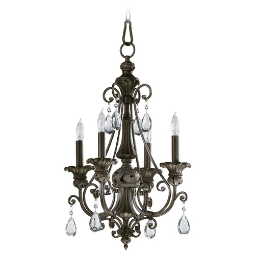 Quorum Lighting Quorum Lighting Fulton Classic Bronze Mini-Chandelier 6132-4-54