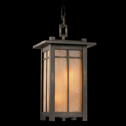 Fine Art Lamps Fine Art Lamps Capistrano Warm Bronze Patina Outdoor Hanging Light 400880ST