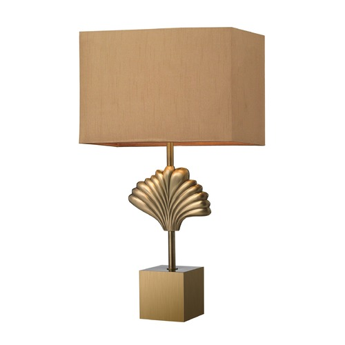 Dimond Lighting Dimond Lighting Aged Brass Table Lamp with Rectangle Shade D2676