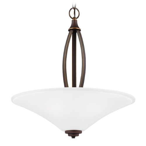 Sea Gull Lighting Sea Gull Lighting Metcalf Autumn Bronze Pendant Light with Coolie Shade 6613203-715