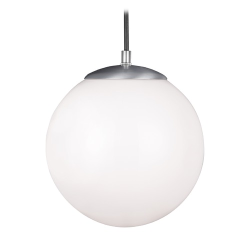 Sea Gull Lighting Sea Gull Hanging Globe Satin Aluminum LED Mini-Pendant Light 602091S-04