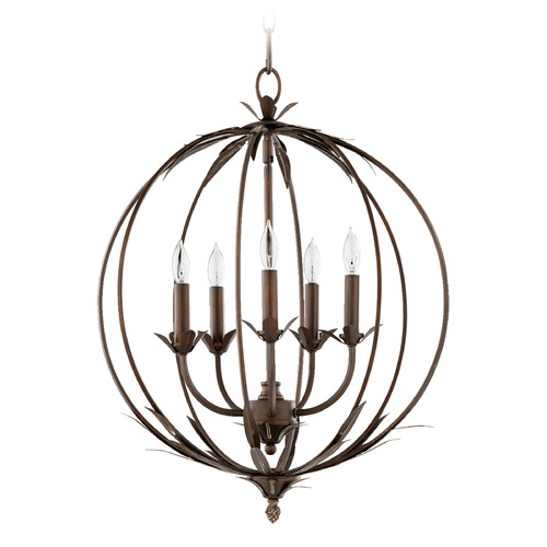Quorum Lighting Quorum Lighting Flora Vintage Copper Pendant Light 6372-5-39