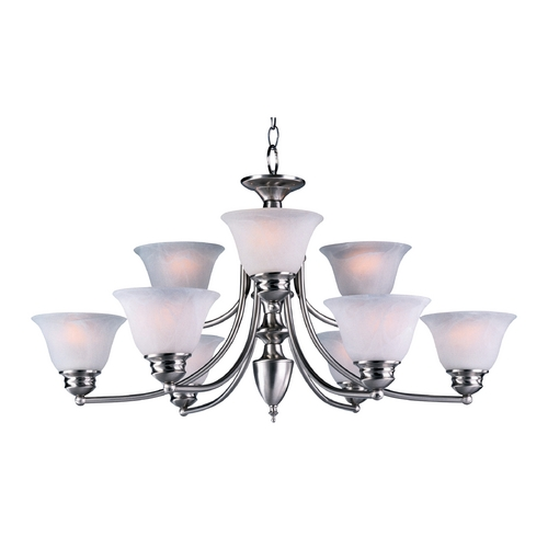 Maxim Lighting Maxim Lighting Malibu Satin Nickel Chandelier 2685MRSN