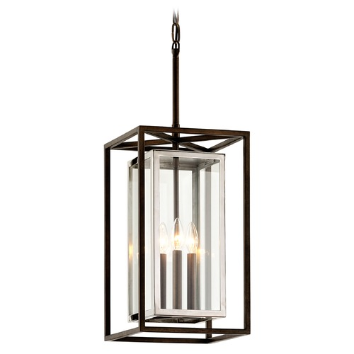 Troy Lighting Troy Lighting Morgan Bronze with Polished Stainless Outdoor Hanging Light F6517