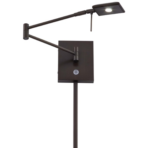 George Kovacs Lighting Modern LED Swing Arm Lamp in Copper Bronze Patina Finish P4328-647