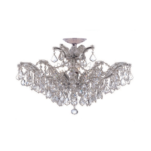 Crystorama Lighting Crystal Chandelier in Polished Chrome Finish 4439-CH-CL-SAQ