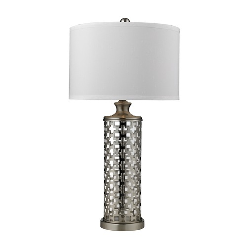 Dimond Lighting Dimond Lighting Brushed Nickel Table Lamp with Drum Shade D2313