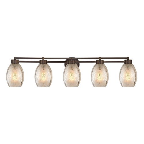 Design Classics Lighting Mercury Glass Bathroom Light Bronze 706-220 GL1034-MER