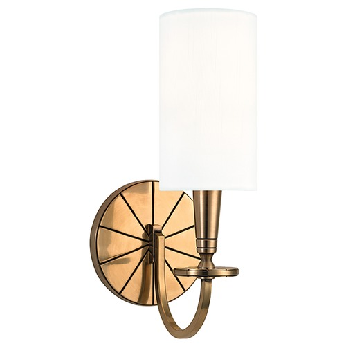 Hudson Valley Lighting Mason 1 Light Sconce - Aged Brass 8021-AGB