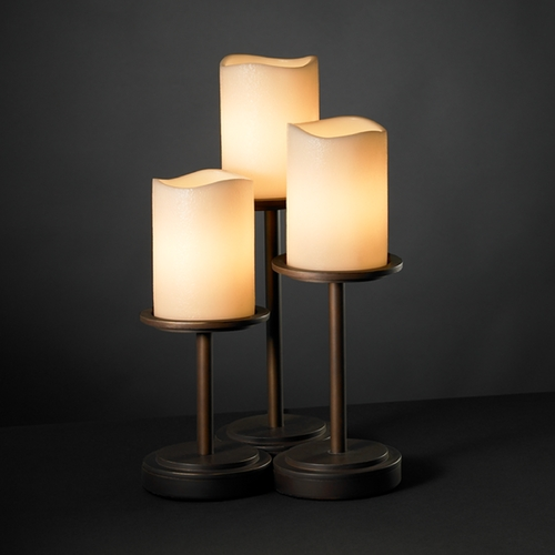 Justice Design Group Justice Design Group Candlearia Collection Table Lamp CNDL-8797-14-CREM-DBRZ