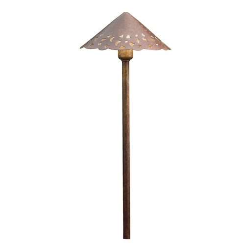 Kichler Lighting Kichler Lighting Landscape LED Textured Tannery Bronze LED Path Light 15843TZT27