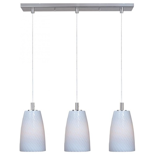 ET2 Lighting Carte Satin Nickel Multi-Light Pendant with Bowl / Dome Shade E93043-13SN