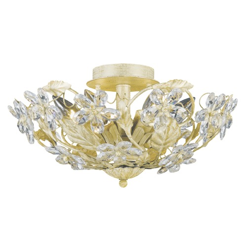 Crystorama Lighting Crystorama Lighting Paris Market Champagne Semi-Flushmount Light 5316-CM