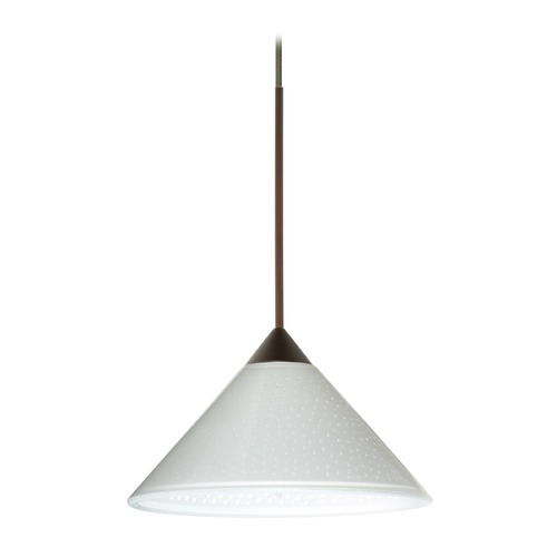 Besa Lighting Besa Lighting Kona Bronze Mini-Pendant Light with Conical Shade 1XT-282453-BR