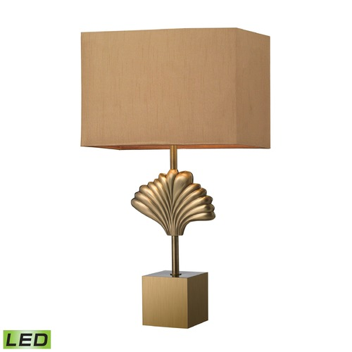 Dimond Lighting Dimond Lighting Aged Brass LED Table Lamp with Rectangle Shade D2676-LED