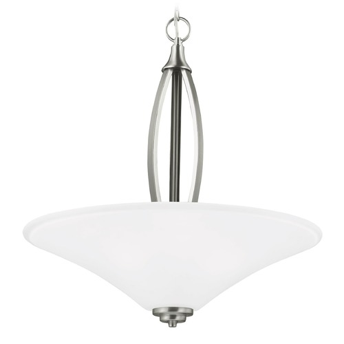 Sea Gull Lighting Sea Gull Lighting Metcalf Brushed Nickel Pendant Light with Coolie Shade 6613203-962