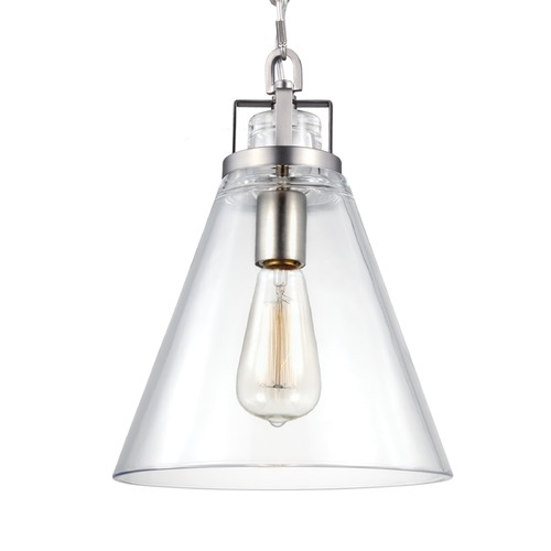 Feiss Lighting Feiss Frontage Satin Nickel Mini-Pendant Light P1370SN