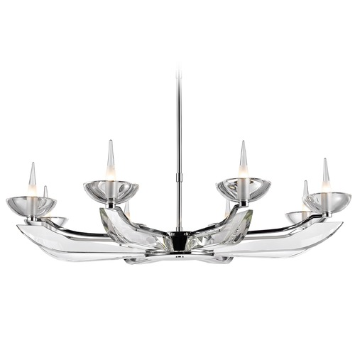 Golden Lighting Golden Lighting Nan Chrome Chandelier C149-08-CH