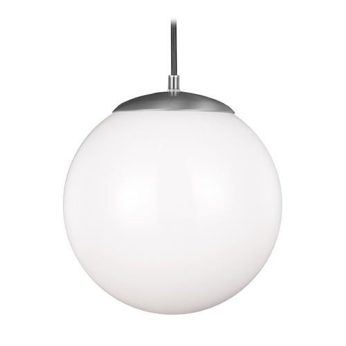 Sea Gull Lighting Sea Gull Hanging Globe Satin Aluminum LED Pendant Light 602291S-04