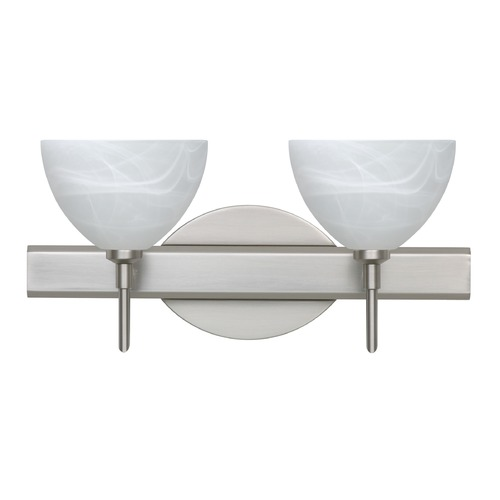 Besa Lighting Besa Lighting Brella Satin Nickel LED Bathroom Light 2SW-467952-LED-SN