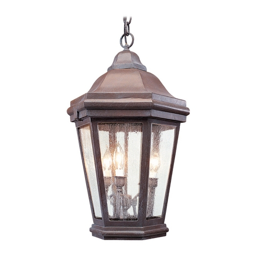 Troy Lighting Outdoor Hanging Light with Clear Glass FCD6895BZP