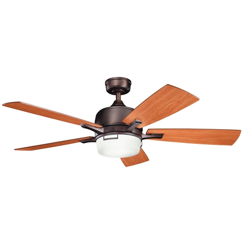 Kichler Lighting Kichler Ceiling Fan with Light Kit in Oil Brushed Bronze Finish 300427OBB