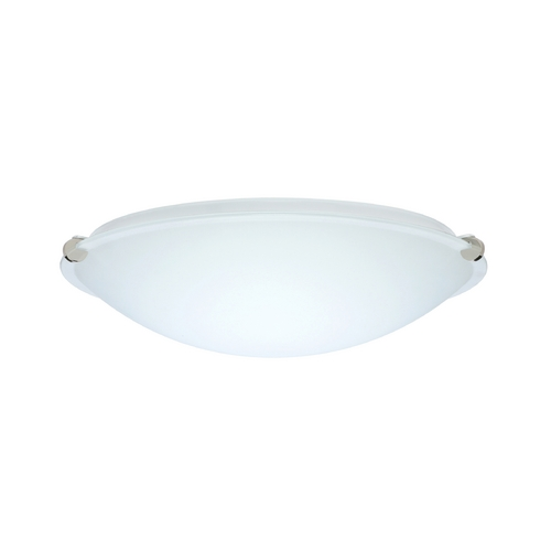 Besa Lighting Flushmount Light with White Glass in Polished Nickel Finish 968007-PN