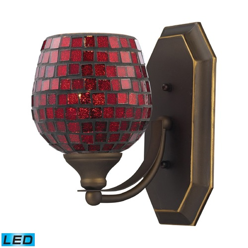 Elk Lighting Elk Lighting Bath and Spa Aged Bronze LED Sconce 570-1B-CPR-LED