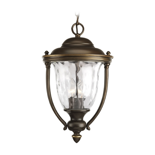Progress Lighting Progress Oil Rubbed Bronze Outdoor Hanging Light with Clear Glass P5584-108