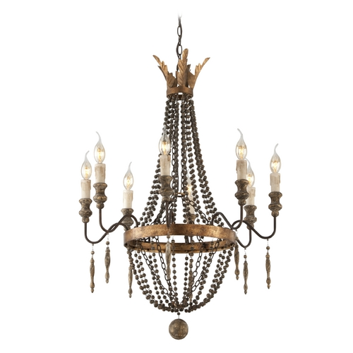Troy Lighting Chandelier in French Bronze Finish F3535