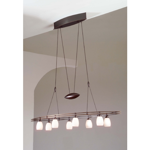 Holtkoetter Lighting Holtkoetter Modern Low Voltage Pendant Light with White Glass in Hand-Brushed Old Bronze Finish 5508 HBOB G5000