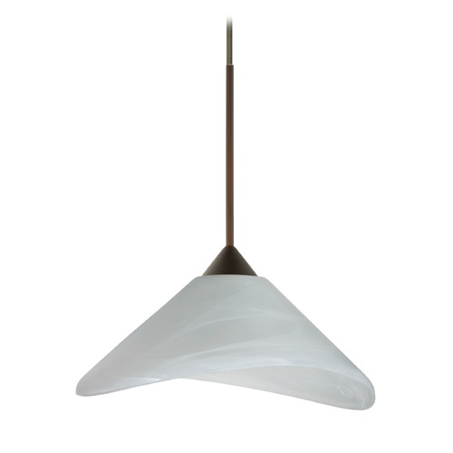 Besa Lighting Besa Lighting Hoppi Bronze LED Mini-Pendant Light with Conical Shade 1XT-191352-LED-BR